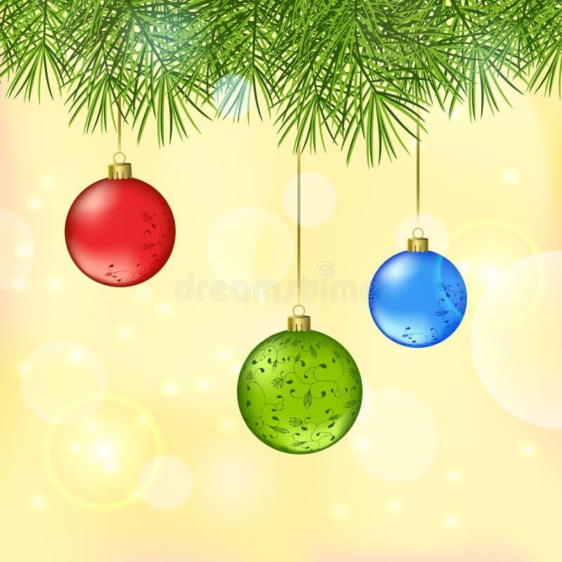 Fundo do vetor do Natal de brilho e do ano novo ilustração do vetor