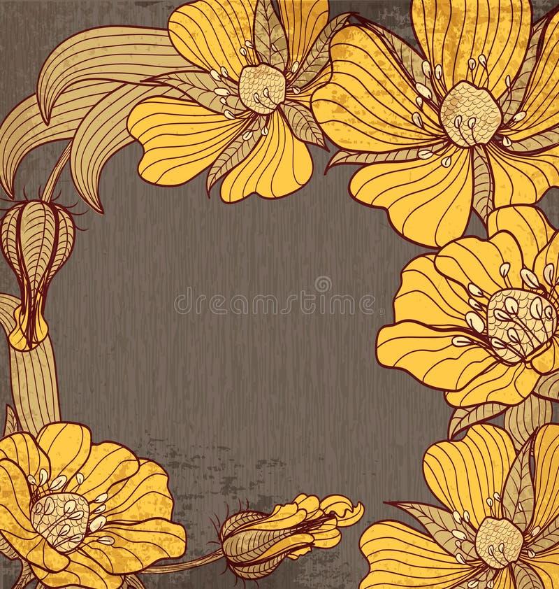 Fundo do vetor do vintage das felicitações com dracmas ilustração royalty free