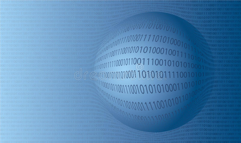 Fundo do vetor dos números binários ilustração do vetor