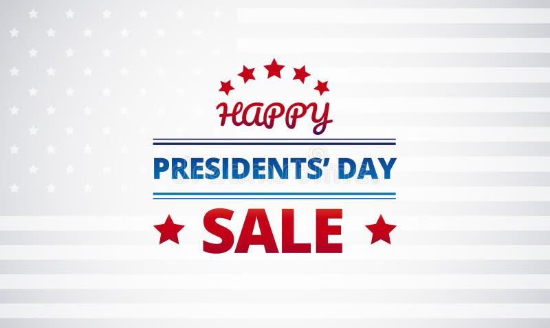 Fundo do vetor dos presidentes Dia Venda ilustração royalty free