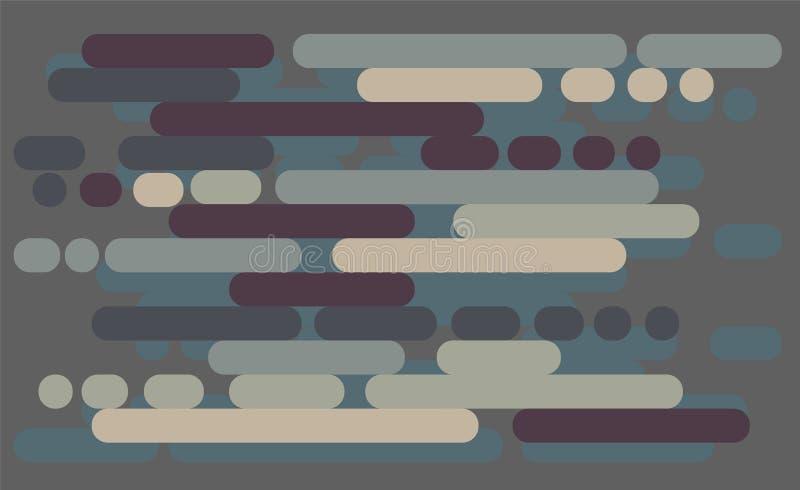 Fundo do vetor Ilustração da textura abstrata com retângulo arredondado ilustração royalty free