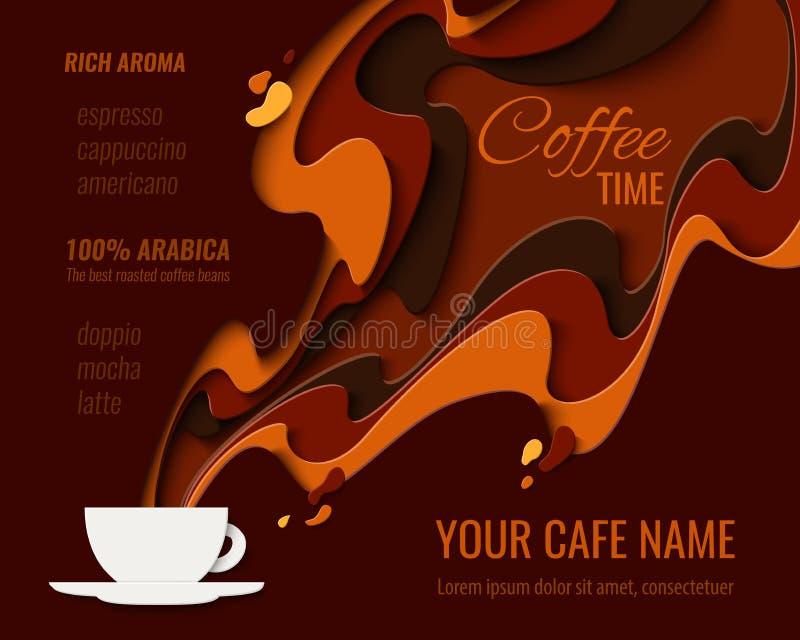 Fundo do vetor do menu do café ilustração royalty free