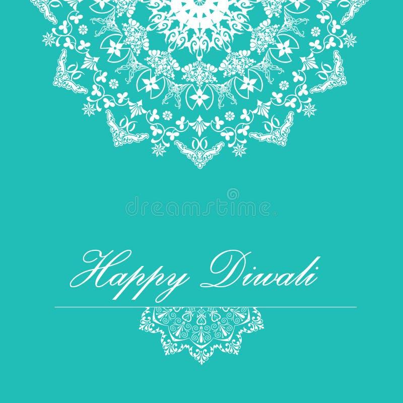 Fundo do vetor para Diwali com projeto à moda do rangoli do teste padrão ilustração stock