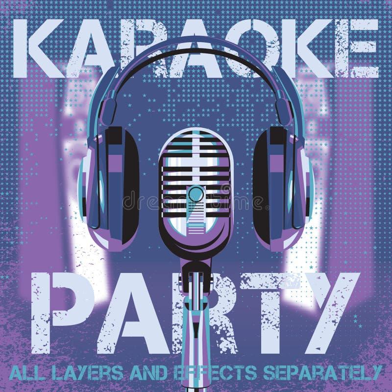 Fundo do vetor para o partido do karaoke ilustração royalty free