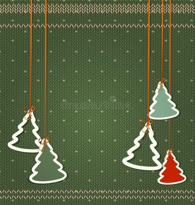 Fundo do vetor pelo Natal e o ano novo Árvores de Natal ha ilustração royalty free