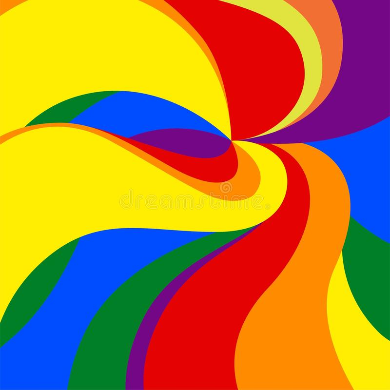 Fundo do vetor Pride Movement alegre na cor e nas dimensões ilustração royalty free