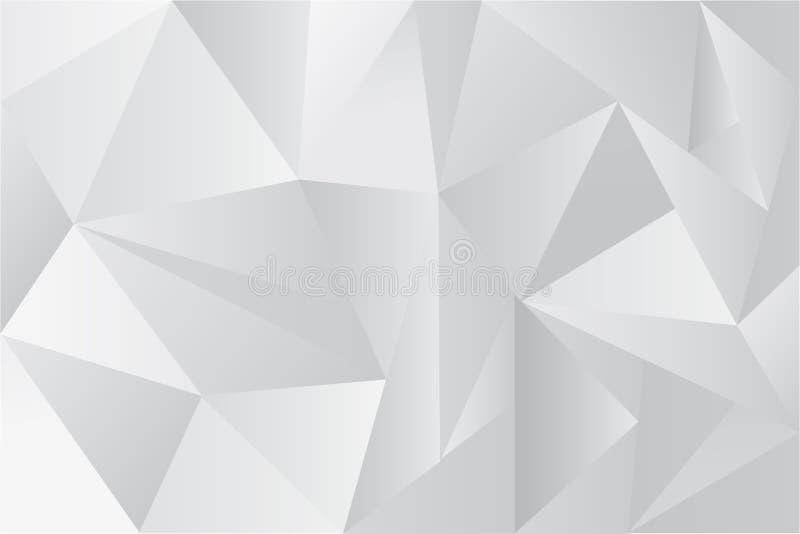 Fundo do vetor, triângulo gradual branco ilustração royalty free
