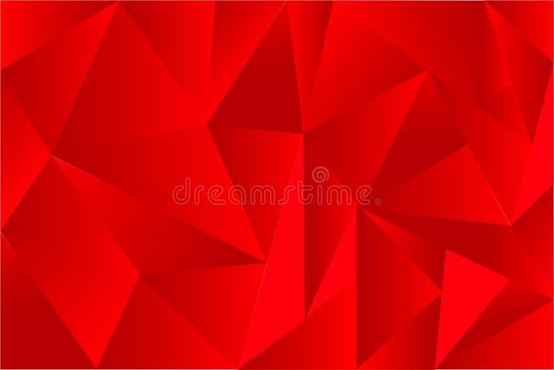 Fundo do vetor, triângulo gradual vermelho ilustração do vetor