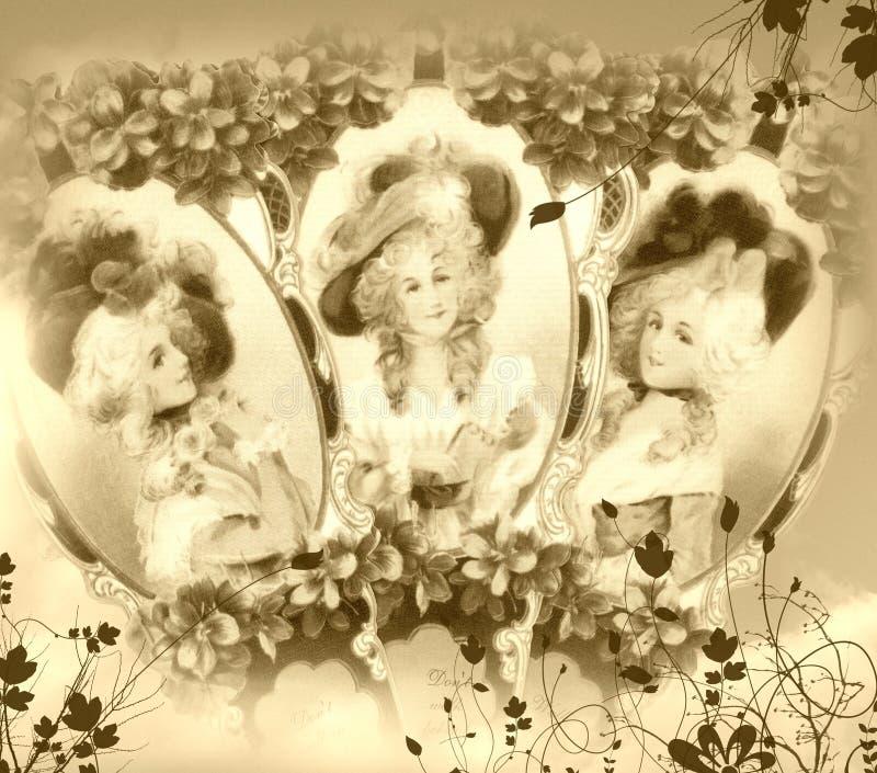 Fundo do Victorian fotografia de stock royalty free