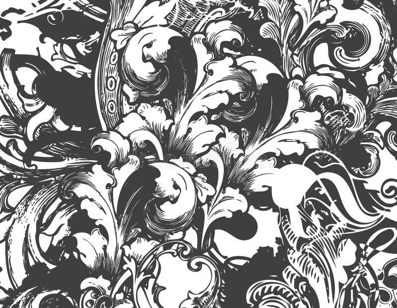 Fundo do Victorian ilustração royalty free