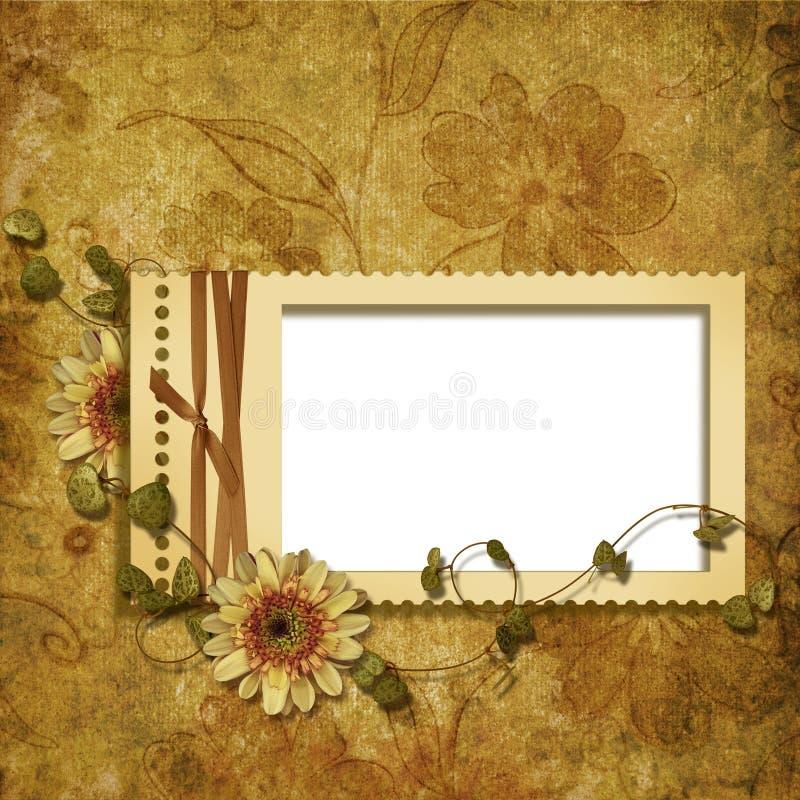 Fundo do Victorian com carimbar-frames ilustração royalty free