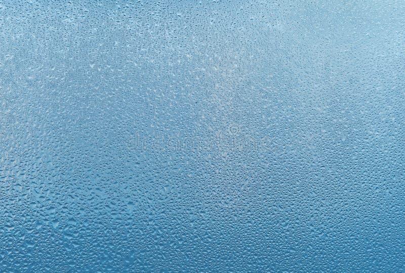 Fundo do vidro de Misted Umidade forte no inverno fotos de stock