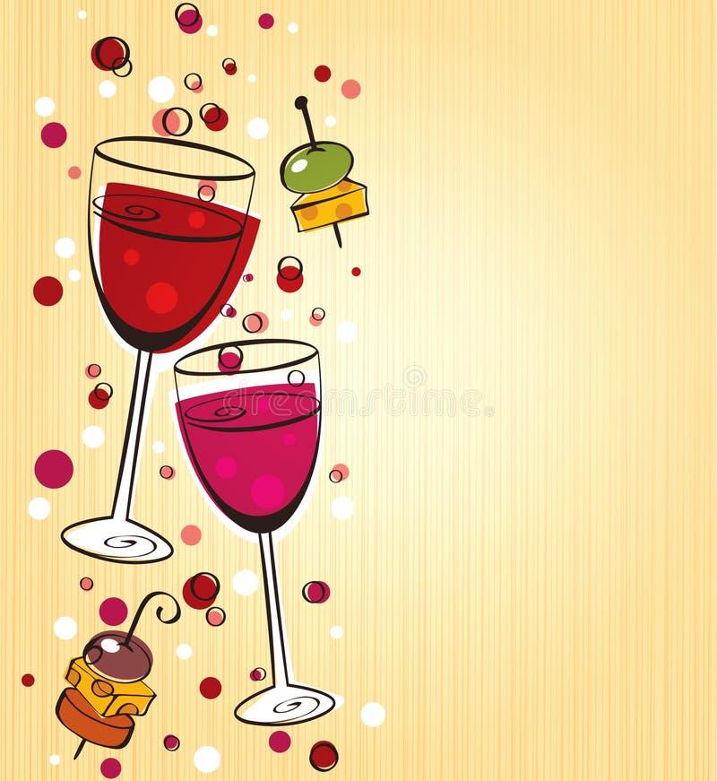 Fundo do vinho ilustração stock