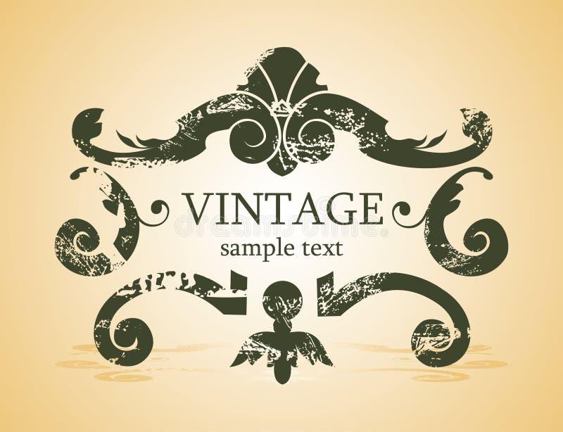 Fundo do vintage ilustração stock