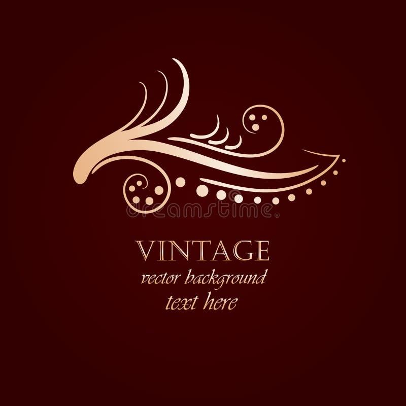 Download Fundo Do Vintage Com Flor Abstrata Ilustração do Vetor - Ilustração de filial, ornament: 16860441