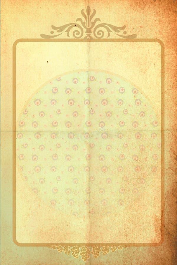 Fundo do vintage com flores da mola ilustração do vetor
