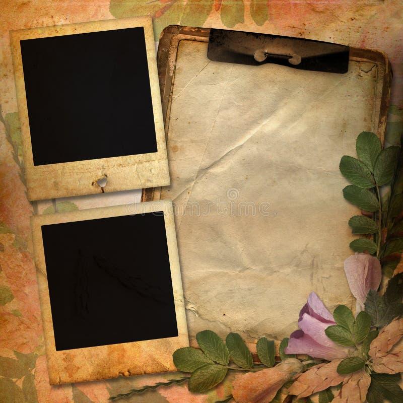 Fundo do vintage com frames para a foto fotos de stock royalty free
