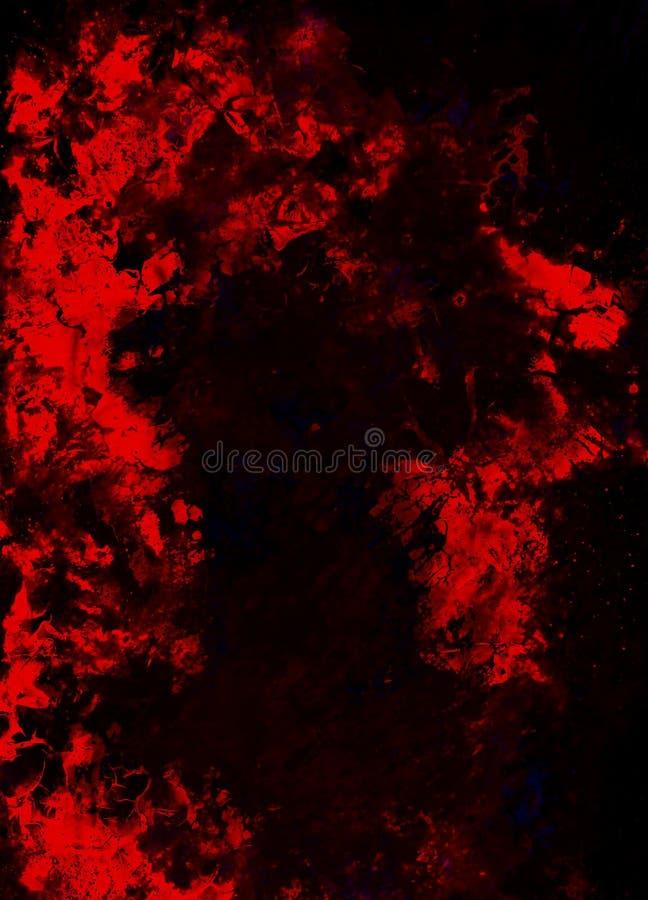 Fundo do vintage de Grunge Fundo abstrato da cor Efeito de fogo ilustração stock