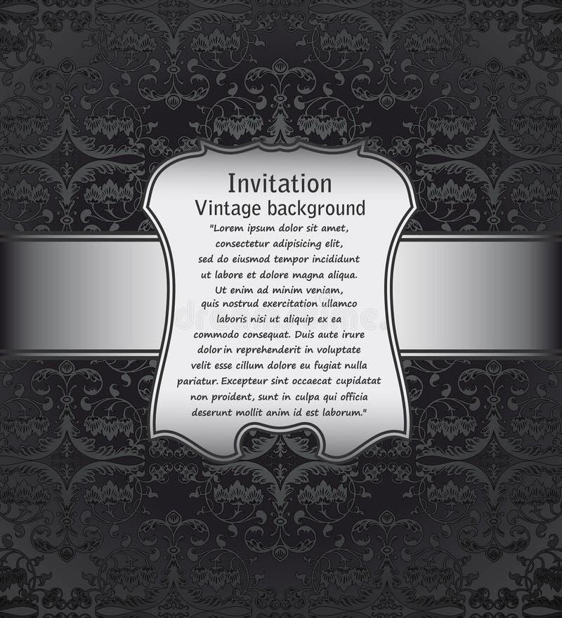 Fundo do vintage para convites ilustração stock