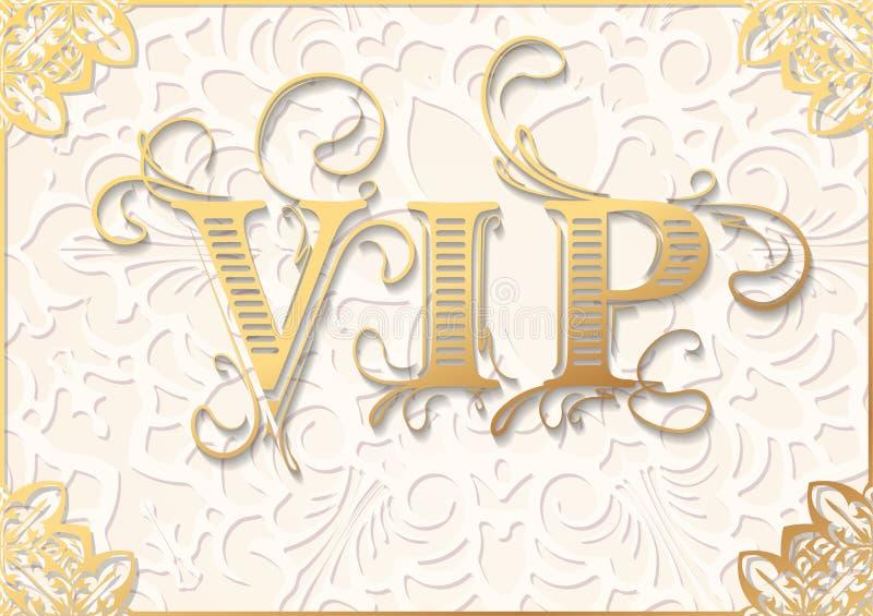 Fundo do VIP do vetor do vintage em tons claros do bege e do ouro ilustração royalty free