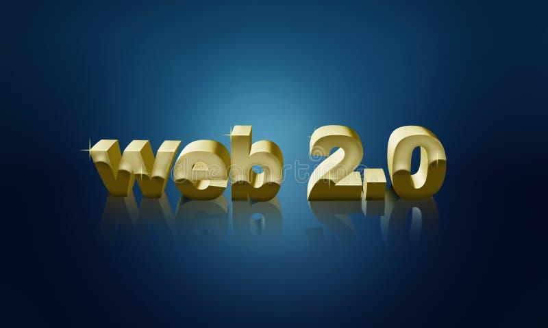 Fundo do Web 2.0 ilustração do vetor