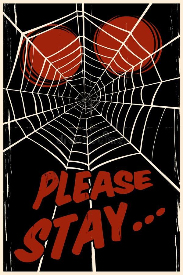 Fundo do Web de aranha ilustração stock
