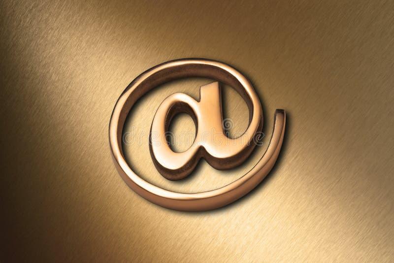 Fundo do Web do Internet do ouro imagem de stock royalty free