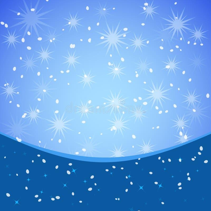 Fundo do xmas do inverno com lugar para o texto ilustração stock