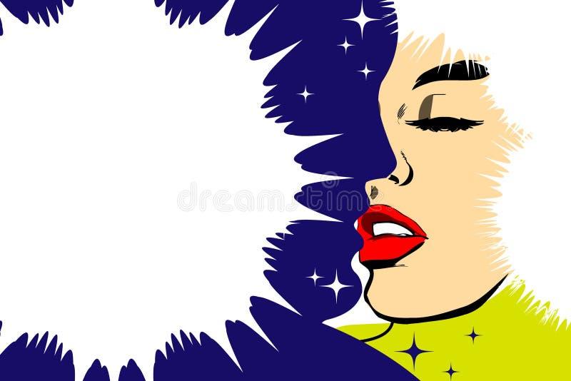 Fundo do xmas do vetor com pares de beijo ilustração stock