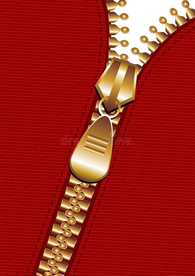 Fundo do Zipper ilustração stock