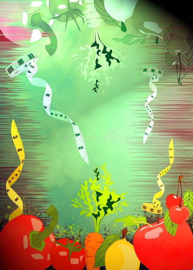 Fundo dos alimentos da dieta ilustração royalty free