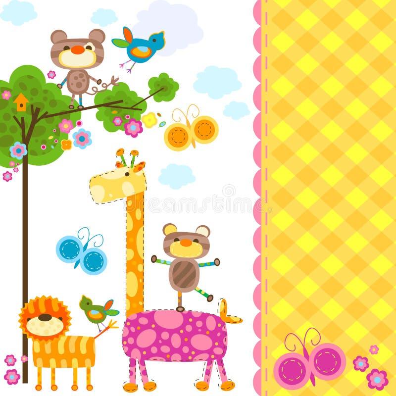 Fundo dos animais ilustração royalty free