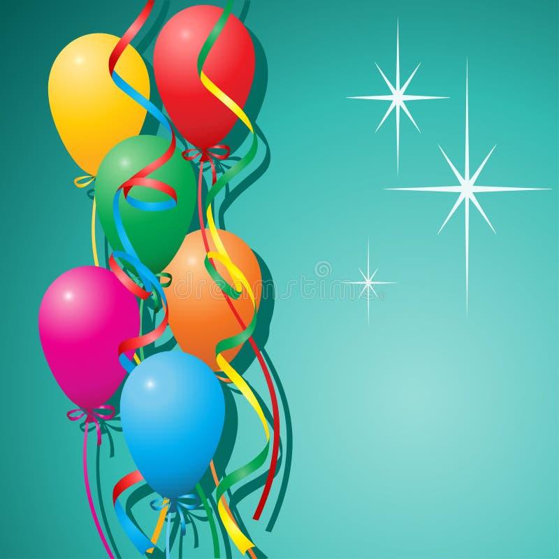 Fundo dos balões ilustração do vetor