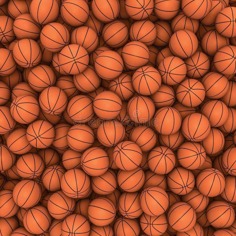 Fundo dos basquetebol ilustração stock