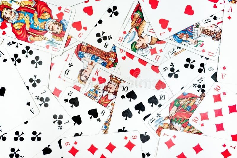 Fundo dos cartões de jogo foto de stock