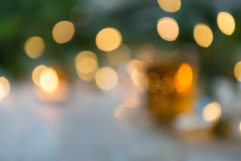 Fundo dos christmass de Blured - árvore e luzes imagem de stock