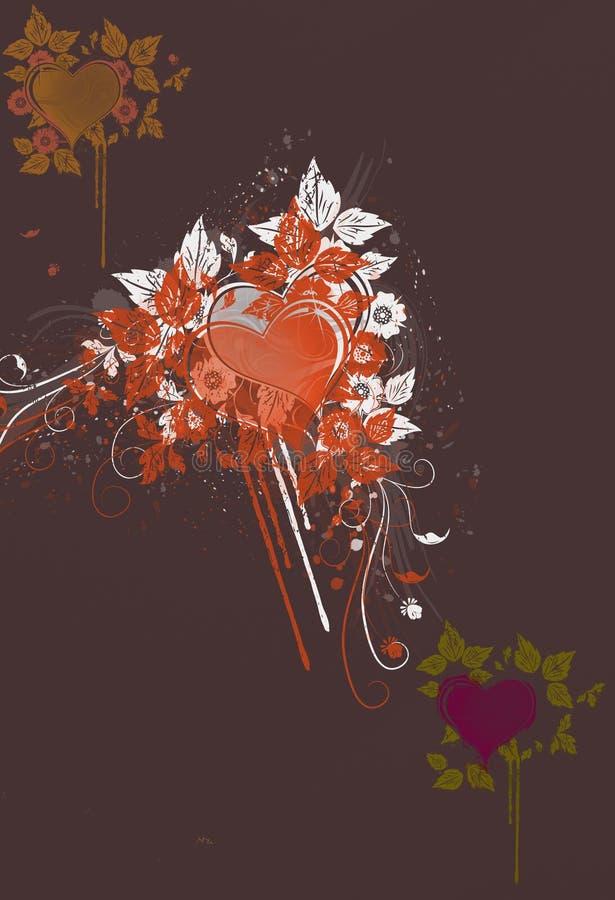 Fundo dos corações ilustração stock