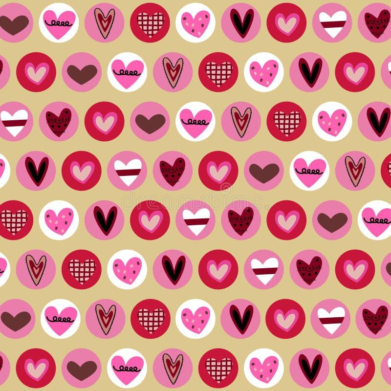 Fundo dos corações ilustração royalty free