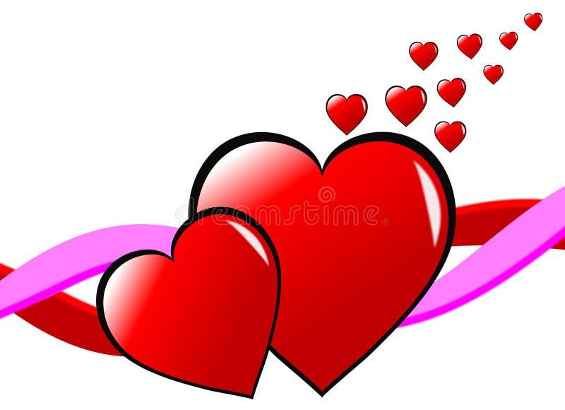 Fundo dos corações dos Valentim ilustração stock