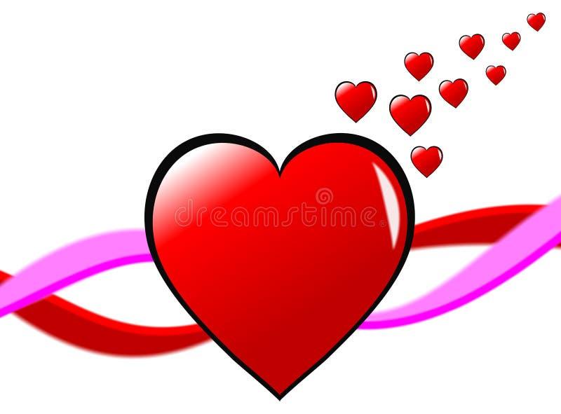 Fundo dos corações dos Valentim ilustração royalty free