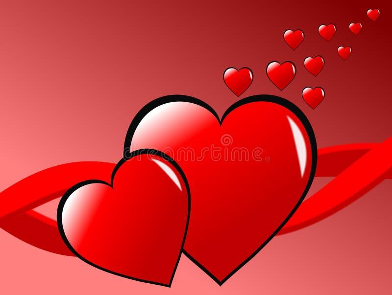 Fundo dos corações dos Valentim ilustração do vetor