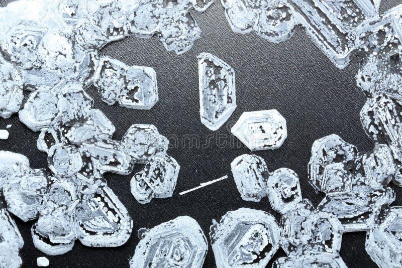 Fundo dos cristais de sal fotografia de stock royalty free