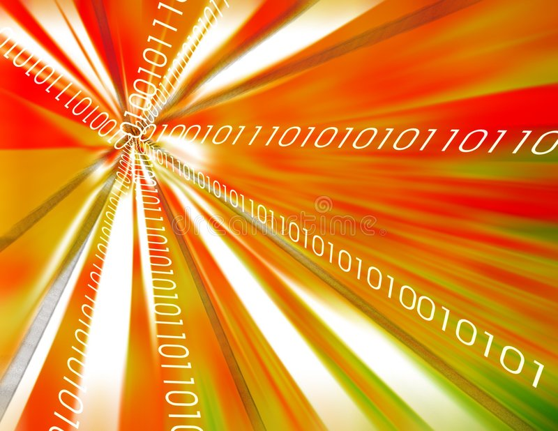 Fundo dos dados binários ilustração do vetor