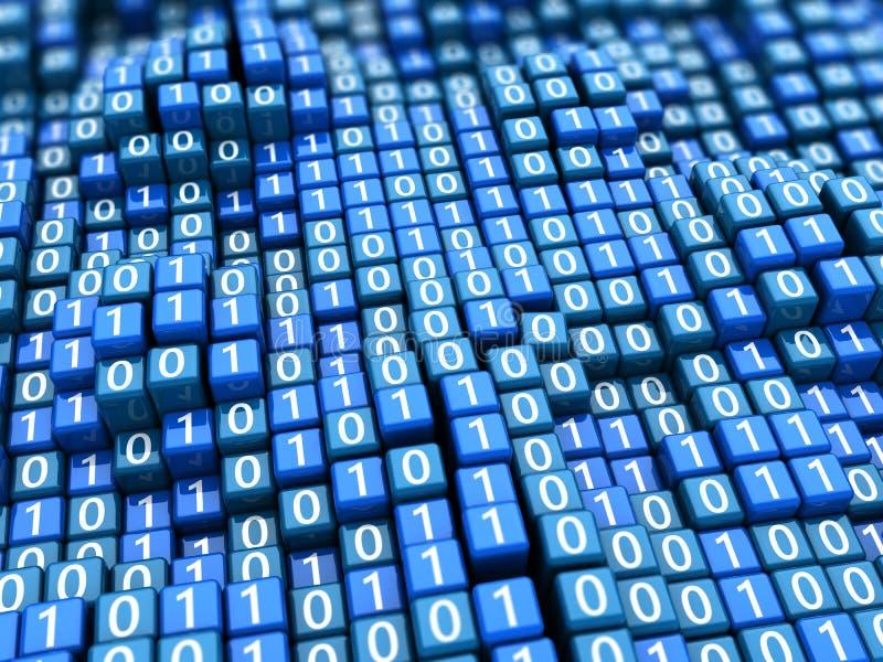 Fundo dos dados binários ilustração stock