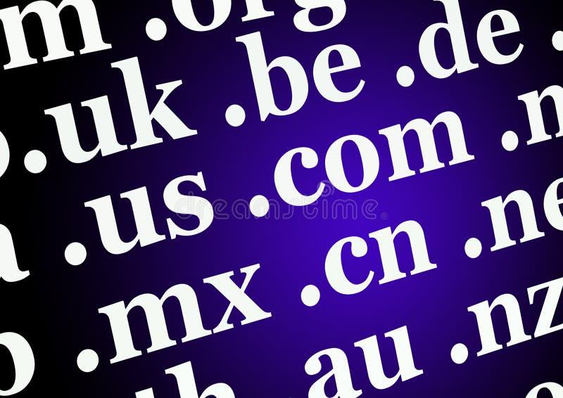 Fundo dos Domain Name imagens de stock royalty free