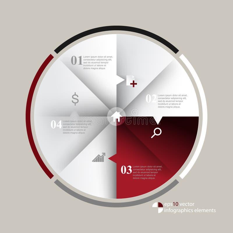 Fundo dos elementos do infographics do vetor ilustração royalty free