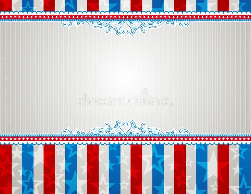Fundo dos EUA com estrelas ilustração royalty free