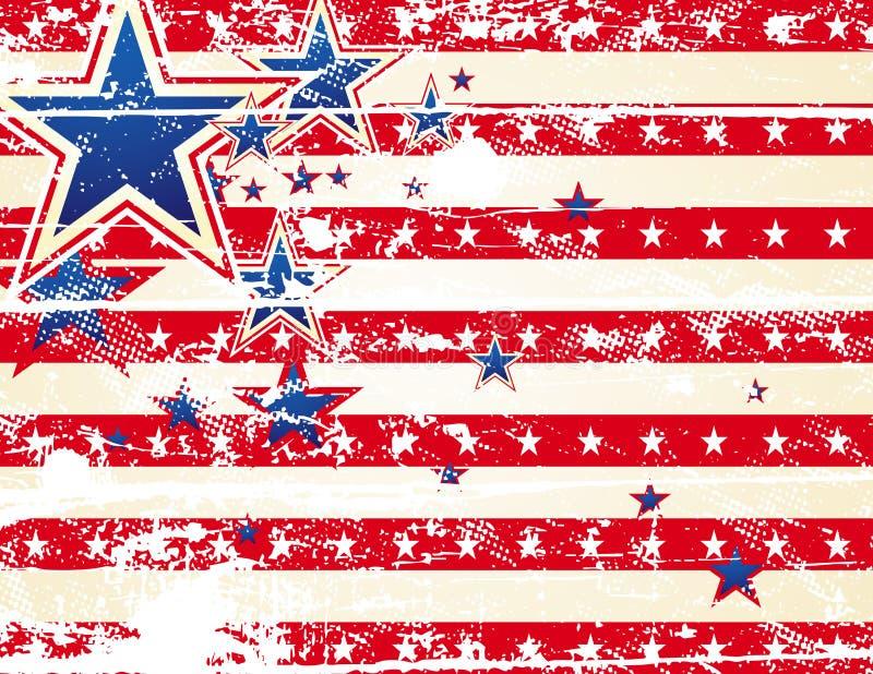 Fundo dos EUA, vetor ilustração stock