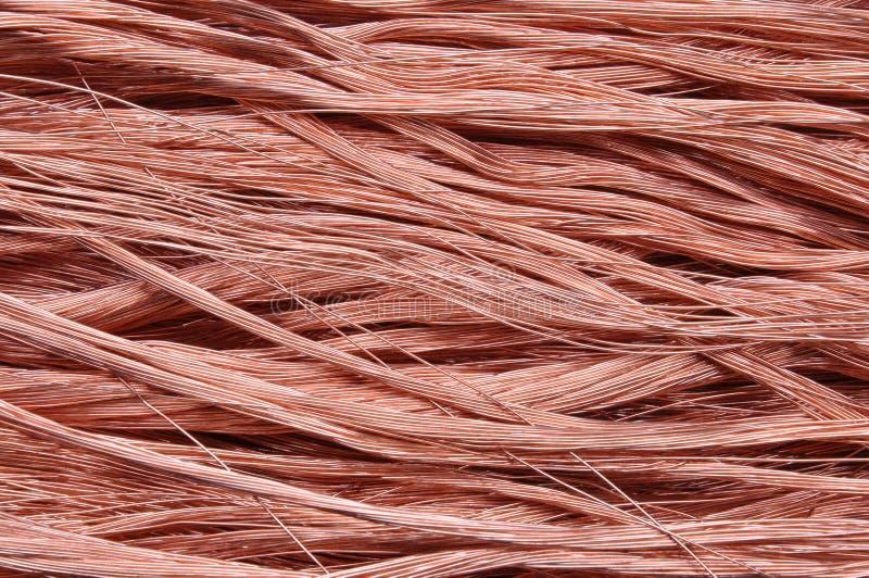Fundo dos fios de cobre imagem de stock royalty free