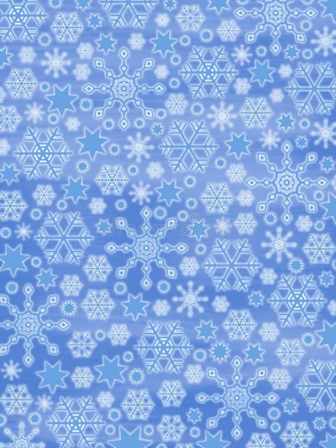 Fundo dos flocos de neve ilustração stock